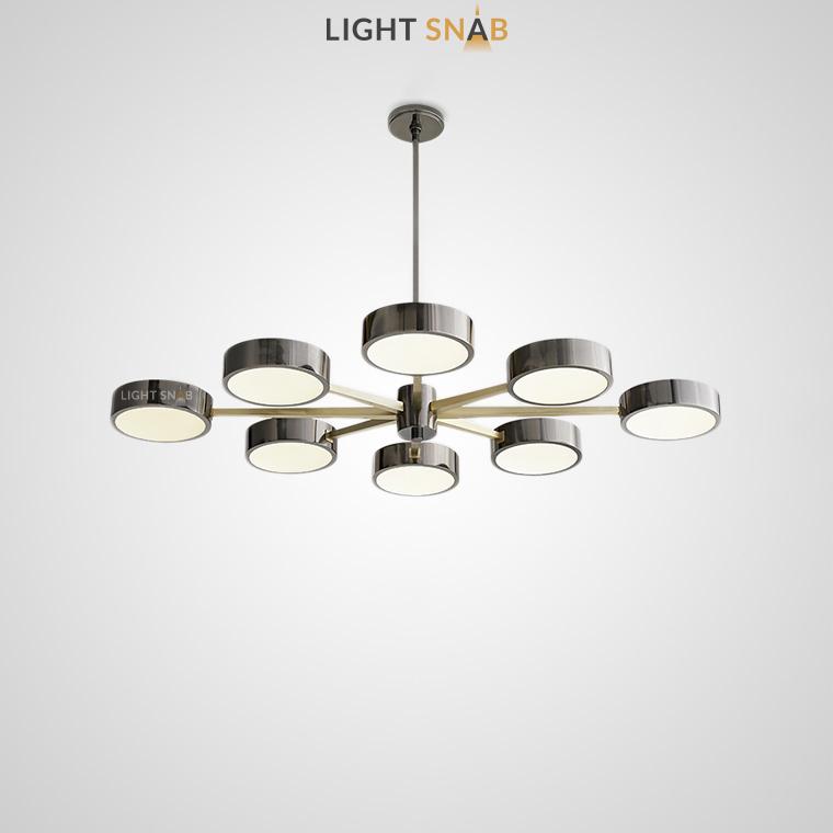 Люстра Friend 10 ламп. Размер M цвет серый