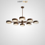 Люстра Friend 10 ламп. Размер M цвет коричневый