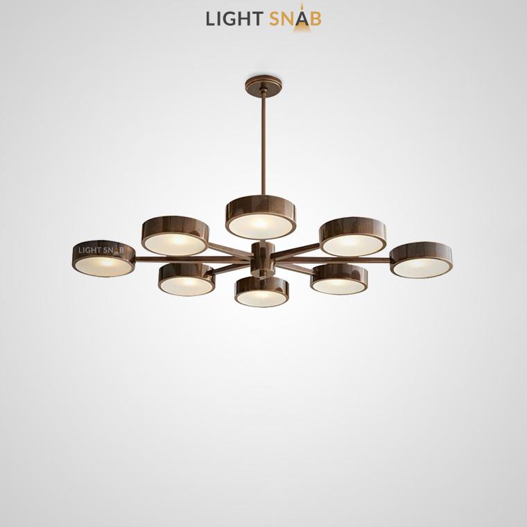 Люстра Friend 8 ламп. Размер S цвет коричневый