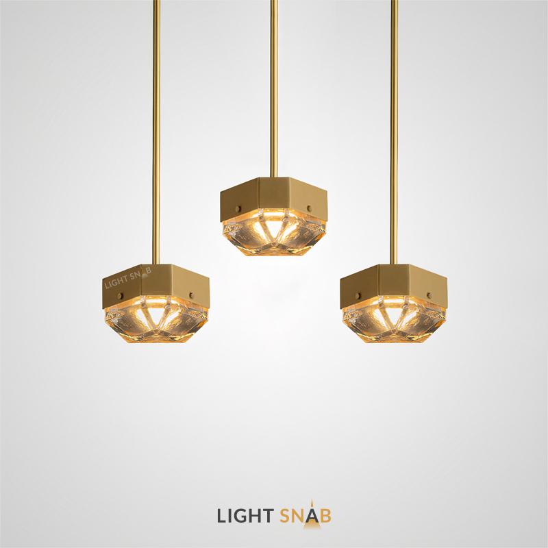 Светодиодный светильник Gallery со стеклянным плафоном геометрической формы на вертикальной стойке