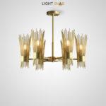 Дизайнерская люстра Gisken Ch на лучевом каркасе с латунными рассеивателями в виде металлических стержней