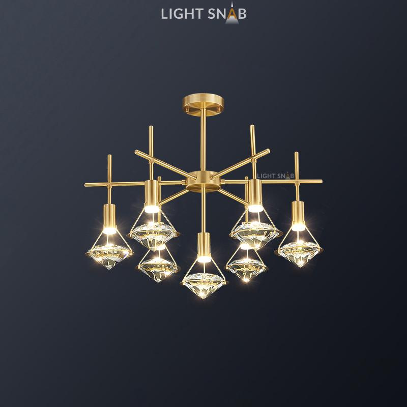 Светодиодная люстра Glasgow Ch 7 ламп