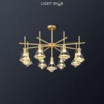 Светодиодная люстра Glasgow Ch 9 ламп