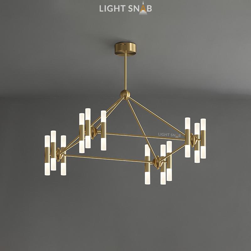 Дизайнерская люстра Graphite 24 лампы