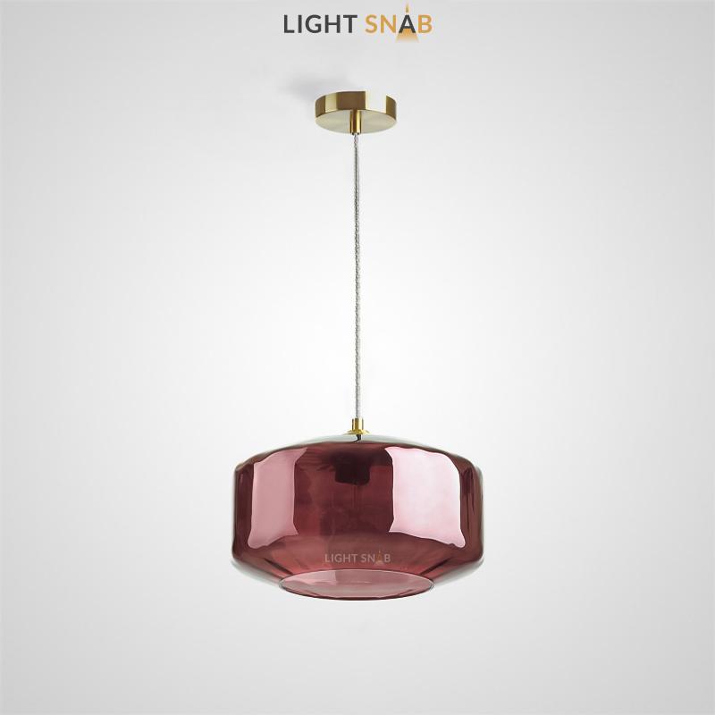 Подвесной светильник Harzard One цвет бордовый