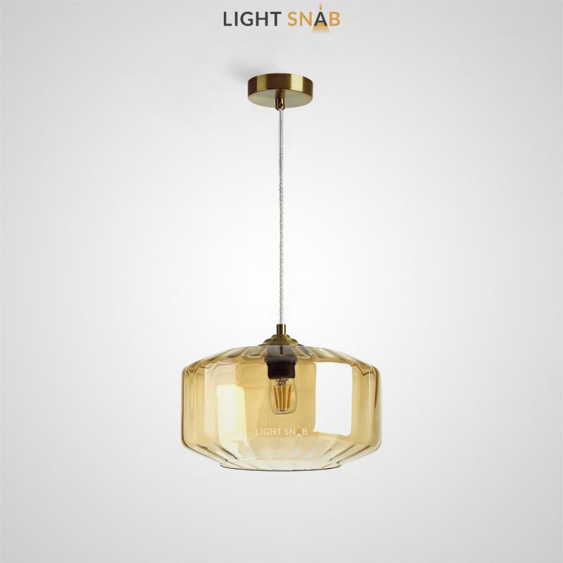 Подвесной светильник Harzard One цвет янтарный