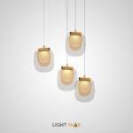 Подвесной светодиодный светильник Helina с плоским прозрачным плафоном из стекла