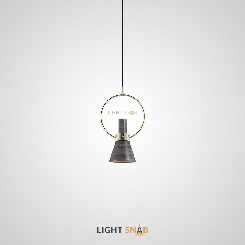 Подвесной светильник Hennan модель C. Цвет серый