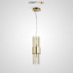 Подвесной светильник Hetel One на струнном подвесе с кольцевым каркасом и плафоном из металлических и стеклянных элементов