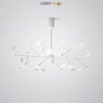 Светодиодная люстра Hilvi размер L. Цвет белый
