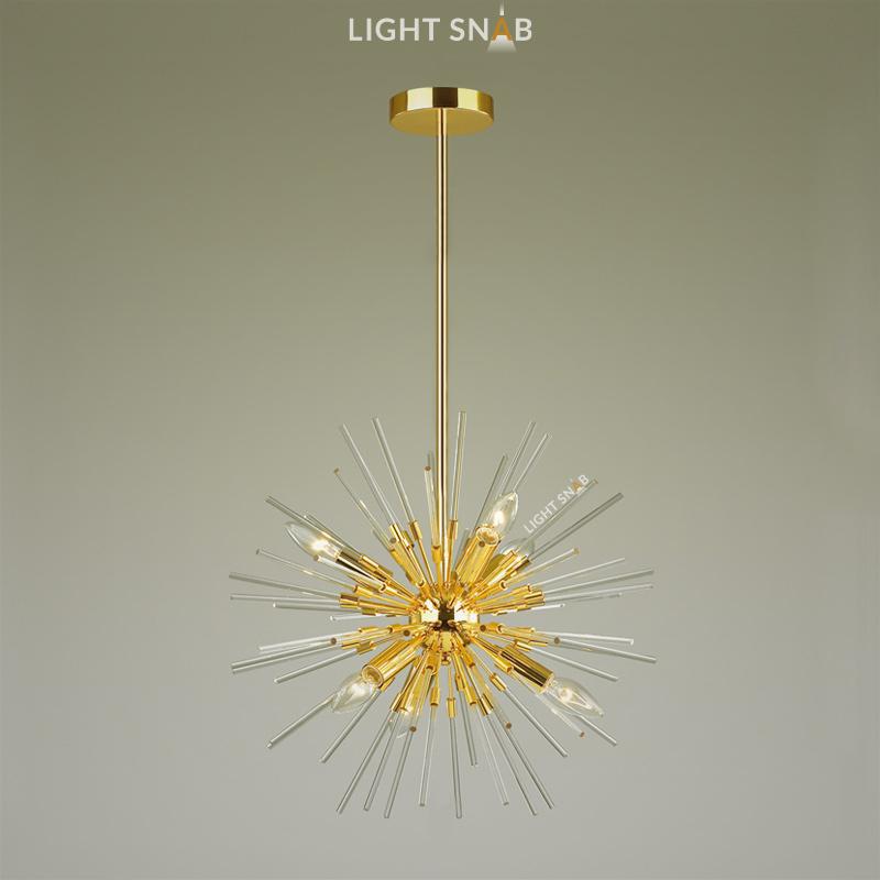 Люстра Hurzarin 6 ламп. Цвет золото