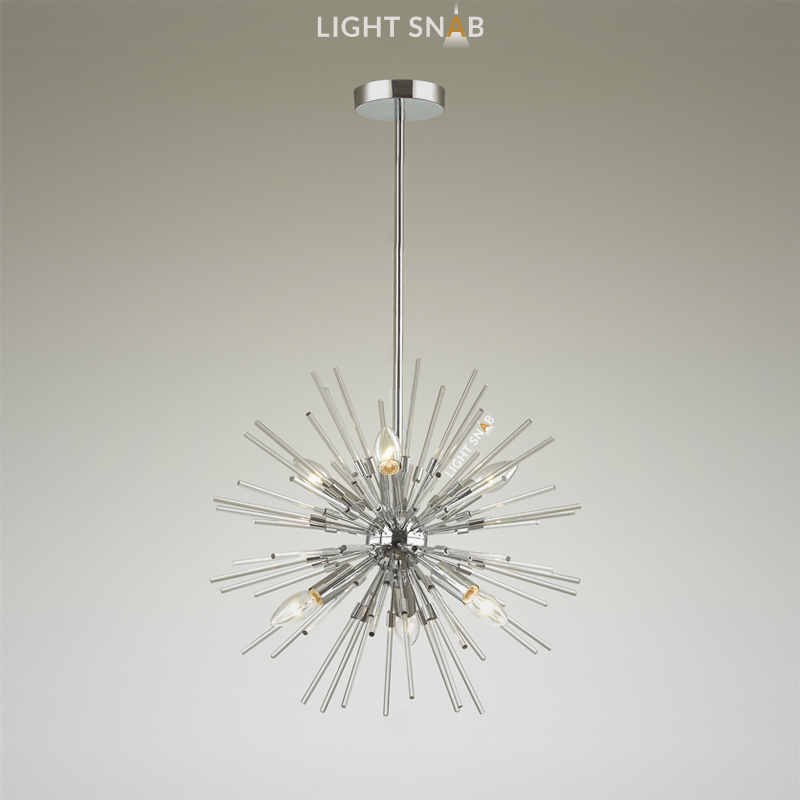 Люстра Hurzarin 6 ламп. Цвет серебро