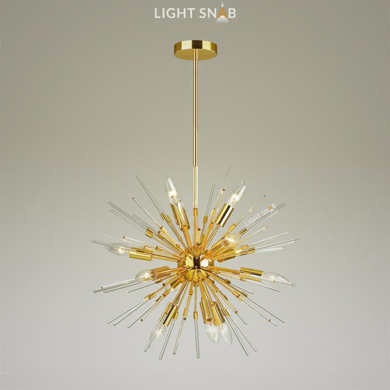 Люстра Hurzarin 12 ламп. Цвет золото