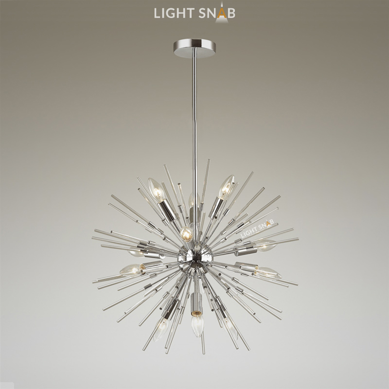 Люстра Hurzarin 12 ламп. Цвет серебро