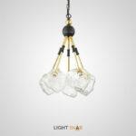 Подвесной светильник Iche С с плафонами из фактурного стекла на кронштейнах