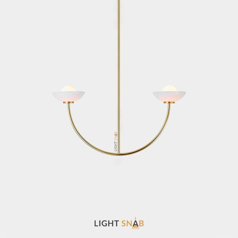 Люстра Inelda 2 лампы. Цвет золото