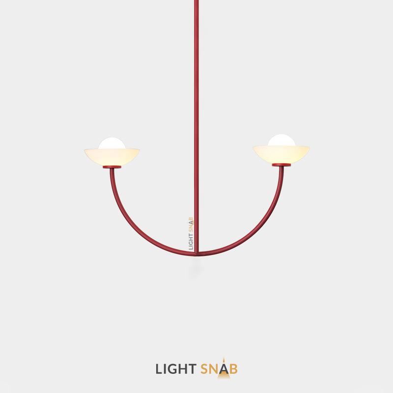 Люстра Inelda 2 лампы. Цвет красный