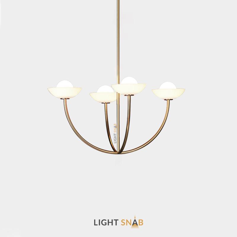 Люстра Inelda 4 лампы. Цвет золото