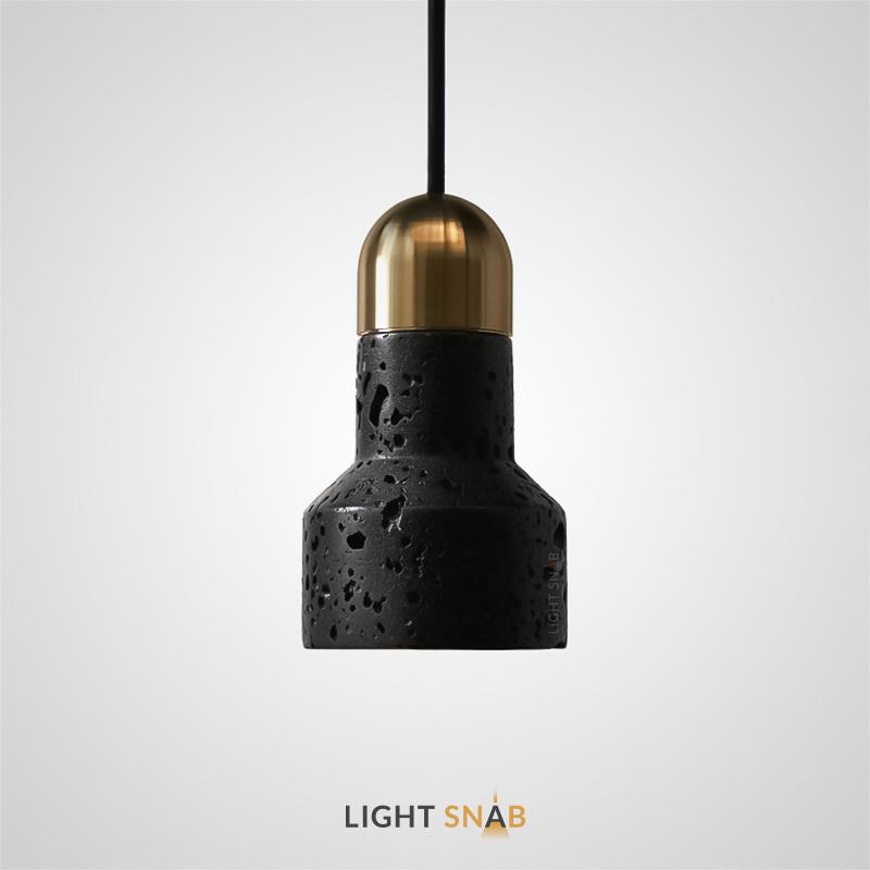 Подвесной светильник Jazz Stone камень цвет черный + латунь