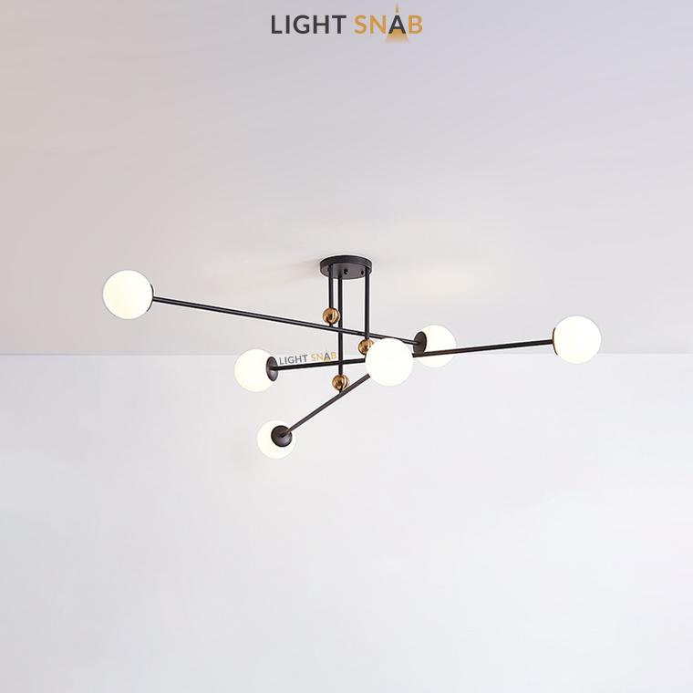 Дизайнерская люстра Jesi 6 ламп цвет черный