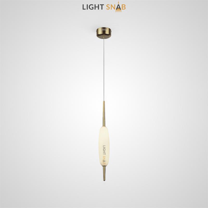 Подвесной светодиодный светильник Kaerdag 1 плафон цвет золото
