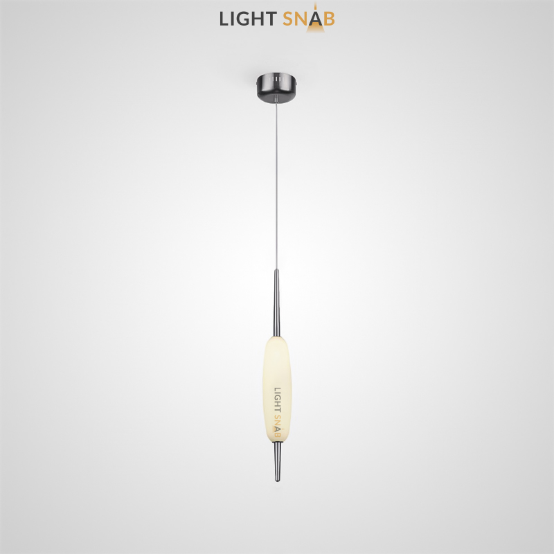 Подвесной светодиодный светильник Kaerdag 1 плафон цвет серебро