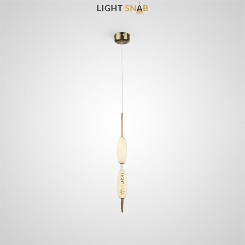 Подвесной светодиодный светильник Kaerdag 2 плафона цвет золото