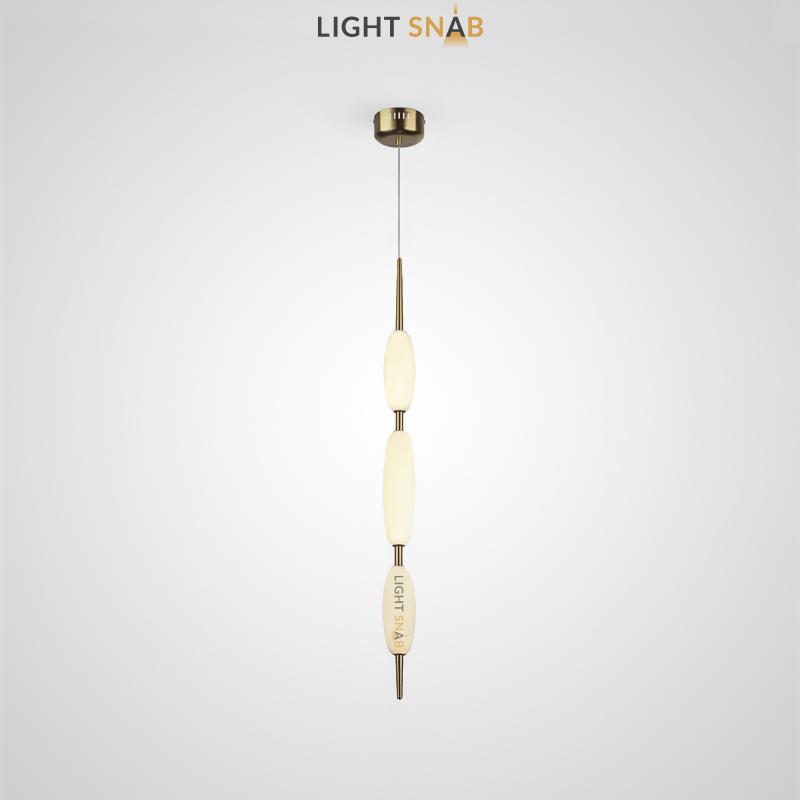 Подвесной светодиодный светильник Kaerdag 3 плафона цвет золото