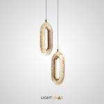 Светодиодный подвесной светильник Kezia с рельефным плафоном кольцевидной формы