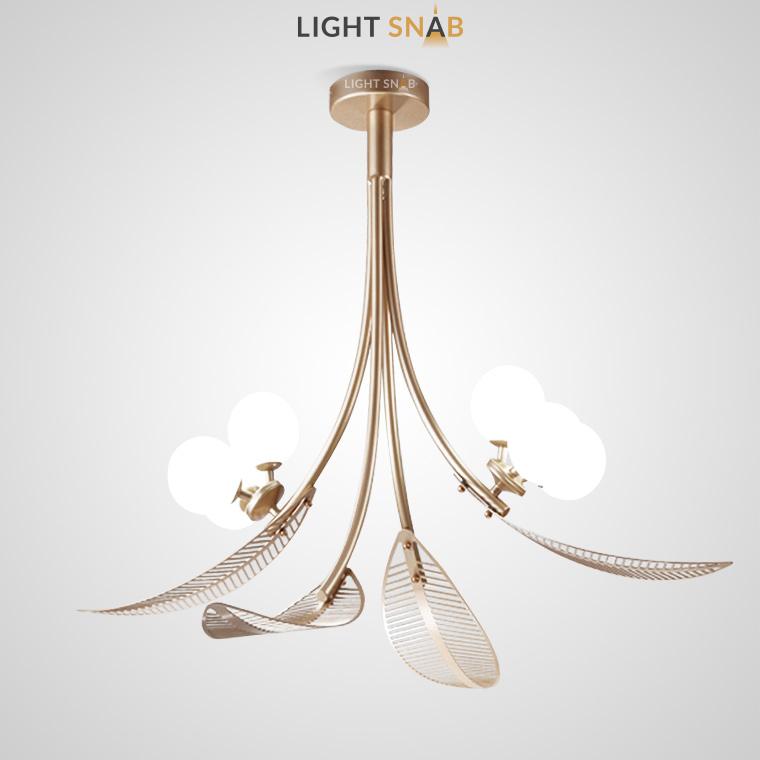 Дизайнерская люстра Laub с растительными мотивами