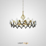 Люстра Lenora с декором из стеклянных кристаллов