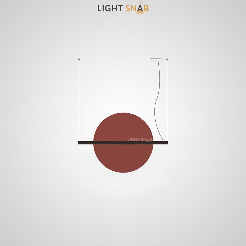 Подвесной светодиодный светильник Liberty размер L цвет красный