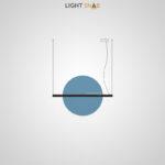 Подвесной светодиодный светильник Liberty размер L цвет синий