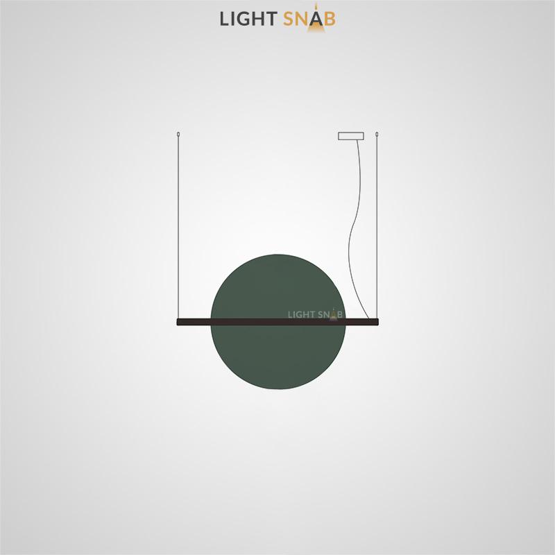 Подвесной светодиодный светильник Liberty размер L цвет зеленый