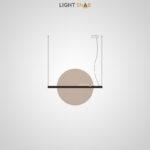 Подвесной светодиодный светильник Liberty размер L цвет шампань