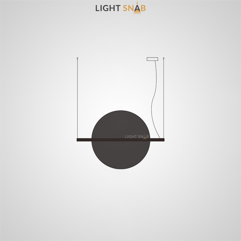 Подвесной светодиодный светильник Liberty размер L цвет черный