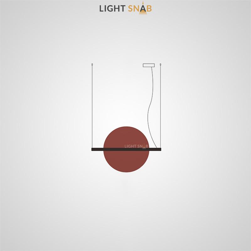 Подвесной светодиодный светильник Liberty размер M цвет красный