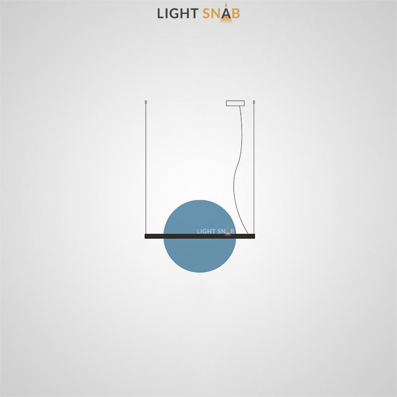 Подвесной светодиодный светильник Liberty размер M цвет синий