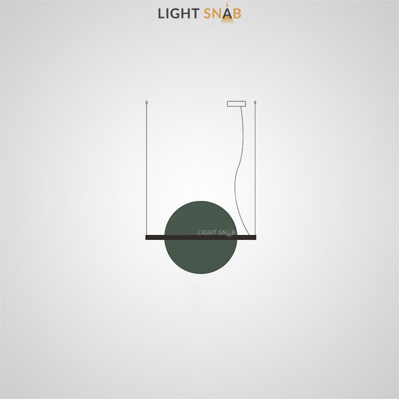 Подвесной светодиодный светильник Liberty размер M цвет зеленый