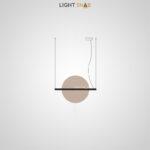 Подвесной светодиодный светильник Liberty размер M цвет шампань