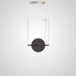 Подвесной светодиодный светильник Liberty размер M цвет черный