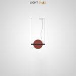 Подвесной светодиодный светильник Liberty размер S цвет красный