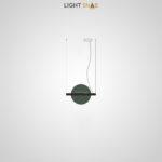Подвесной светодиодный светильник Liberty размер S цвет зеленый