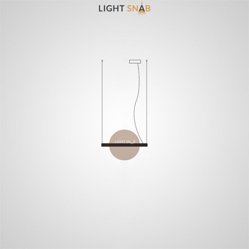 Подвесной светодиодный светильник Liberty размер S цвет шампань
