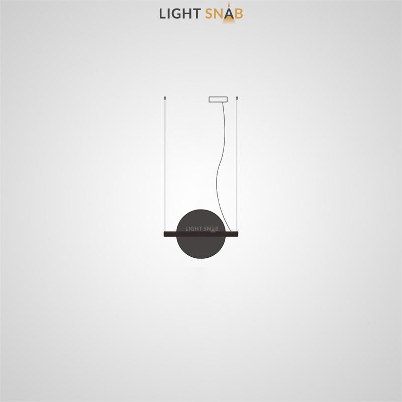Подвесной светодиодный светильник Liberty размер S цвет черный