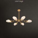 Люстра Loraine 6 ламп. Цвет латунь