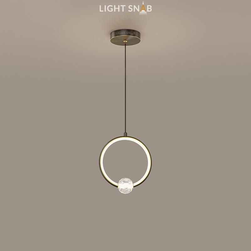 Подвесной светильник Luana 1 кольцо цвет черный свет теплый