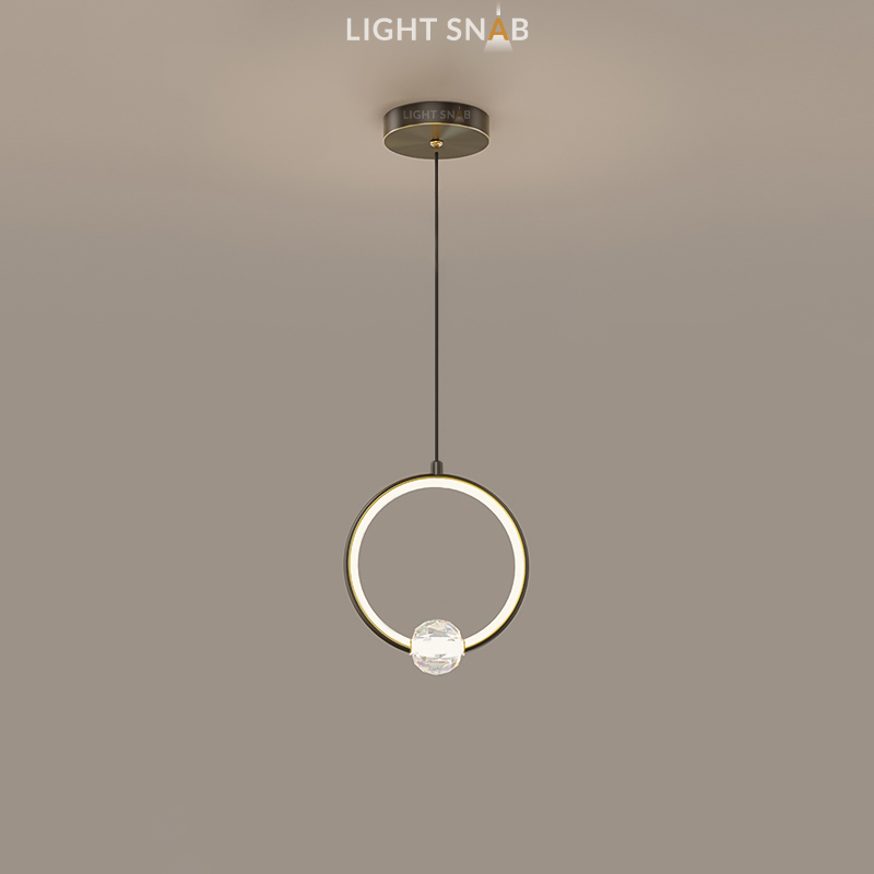Подвесной светильник Luana 1 кольцо цвет черный свет белый