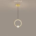 Подвесной светильник Luana 1 кольцо цвет латунь свет теплый
