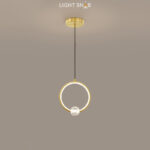 Подвесной светильник Luana 1 кольцо цвет латунь свет белый